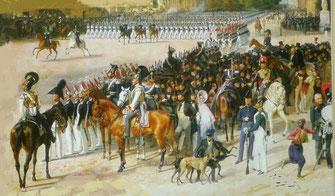 Parade in Berlin um 1830