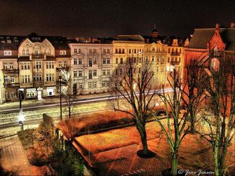 30 - Cottbus Bahnhofstraße im Abendlicht