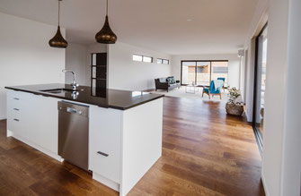 Nautical Homes Whitianga spec home builders. Interior Kitchen,Dining