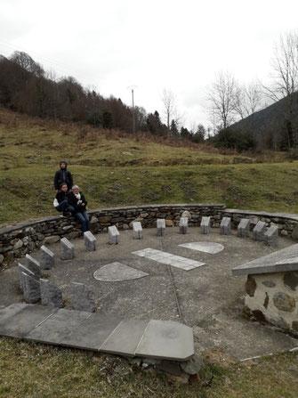 Cadran solaire analemmatique de Bagnères de Bigorre qui sert de modèle  à celui du Jardin des Marbrières.