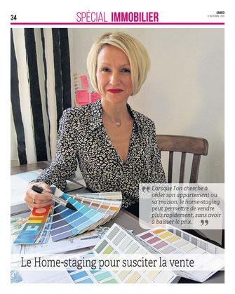 Julienne Le Brun, décoratrice et architecte d'intérieur à Reims, dossier immobilier home staging