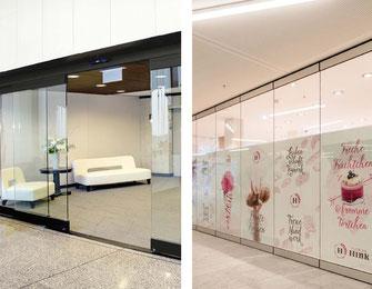 Puertas automáticas y Sistemas para muros movibles corredizos de vidrio plegables y apilables
