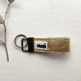 Schlüsselanhänger Filz vergoldet