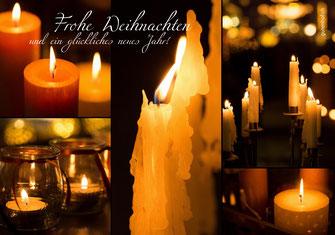 Weihnachtskarte, Weihnachten, Schweiz, Neujahrskarte, Gutenhof, Priska Ziswiler, Ettiswil, Fotokarte,  Kerzen, Kerzenlichter, Kerzenlicht, rote Kerzen