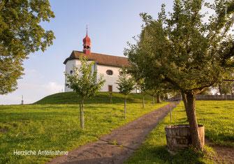 Trauerkarte, Kapelle, St. Blasius, Alberswil, Beileidskarte