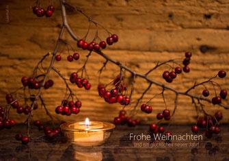 Weihnachtskarte mit Kerze, Weihnachtskarte mit Kerzenlicht, Neujahrskarte