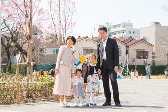 出張撮影 入園 入学 卒園 卒業 東京 練馬区 公園