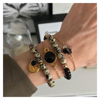 Shop the look, handgemachter Edelstein Modeschmuck, schwarz und gold, Details, Outfitdetails, Details of the Day,