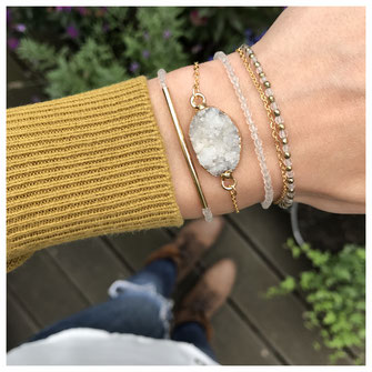 EVAMARIAjewelry Armbänder aus Bergkristall Edelsteinen vergoldet und handgemacht, modern, trendig, edel, Instagram, zierlich