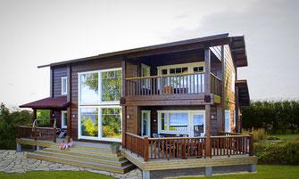 maison bois 248 m²