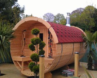 Tonneau sauna en kit