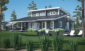 maison bois 172 m²