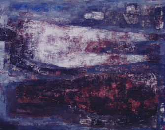 Beating of Monochrome   181.8×227.3cm Oil on canvas   1999