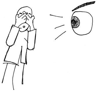 Dessin : le patient atopique souffre du regard des autres
