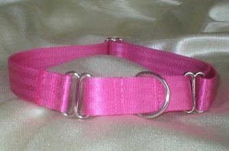 Martingale, Halsband, 2,5cm, Gurtband pink
