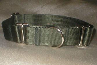 Martingale, Halsband, 4cm, Gurtband olivgrün