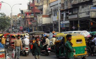 Das alltägliche Chaos in Delhi