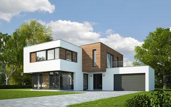 景観 スタイリッシュ おしゃれな塗装 デザイン 住宅展示場