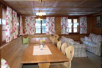 Wohnstube Selbstversorgerhaus Unterboden 5 mit Sauna