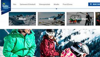 Zur website der Bergbahnen Golm