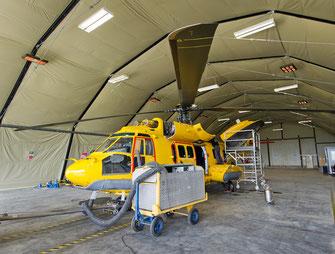 Heizung für Flugzeug Hangar