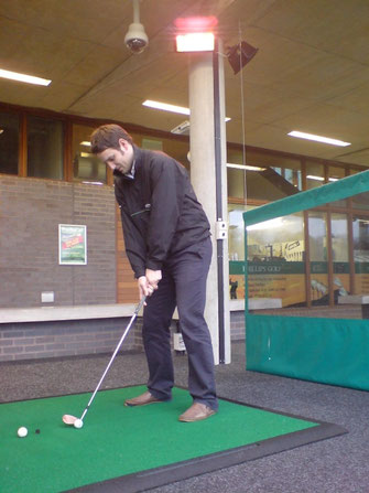 Infrarot-Heizstrahler für die Driving Range am Golfplatz