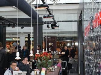 Heizung Café in Shopping-Center