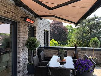 Wärmestrahler für die überdachte Terrasse
