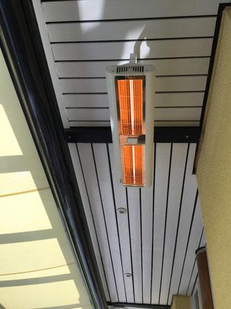 Farblich passende Heizstrahler für Deckenenbau