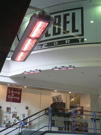 Infrarrot-Wärmestrahler für Einkaufszentrum