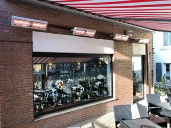 Wärmestrahler für den Ganzjahresbetrieb in der Außengastronomie