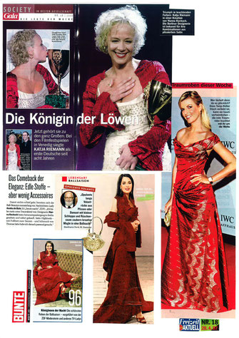 Schauspielerinnen gekleidet in Nanna Kuckuck