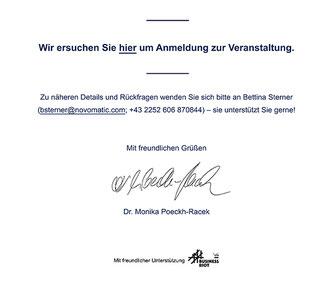 Einladung zum Novomatic Stakeholder Dialog mit Dr. Monika Poeckh-Racek
