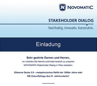 Einladung zum Novomatic Stakeholder Dialog