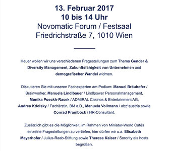 Einladung zum Novomatic Stakeholder Dialog am 13.02.2017 im Novomatic Forum