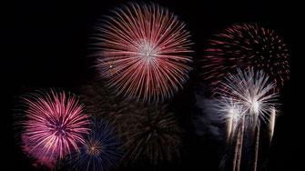 Feuerwerk an Silvesterfeier