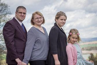 Kami Antonia Loos, Mike Männecke, Nele Loos, Kati Loos, Wernshausen, Jugendweihe