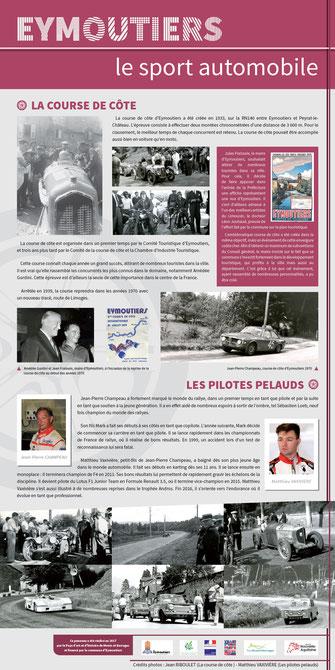 sport course automobile Eymoutiers course de côte Jean-Pierre Champeaud Matthieu Vaxivière Pah Pays d'art et d'histoire monts et barrages patrimoine XXème siècle