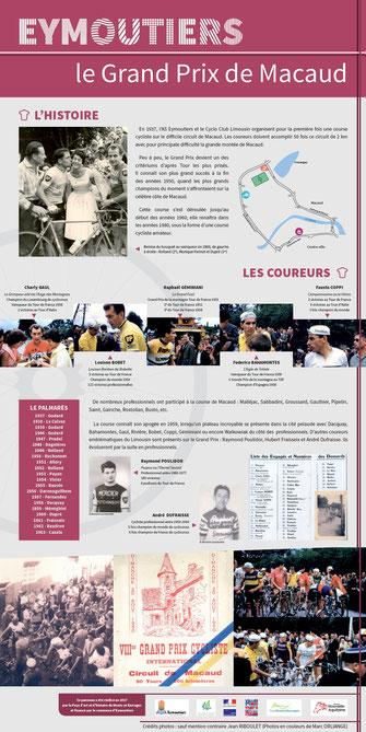 sport grand prix macaud Eymoutiers course cycliste circuit de macaud Raymond Poulidor André Duffraisse Pah Pays d'art et d'histoire monts et barrages patrimoine XXème siècle