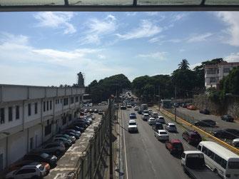 Dom Rep, Dominikanische Republik, Santo Domingo, Promenade, Malecon, Ufer,Dirección General de Aduanas