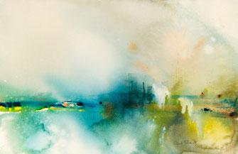 Aquarelles de paysages abstraits