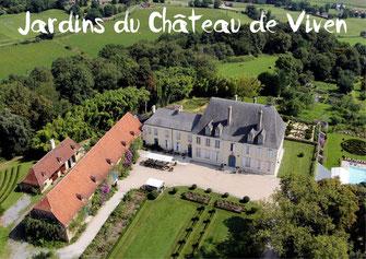 Jardins château Viven tourisme Nord Béarn Madiran