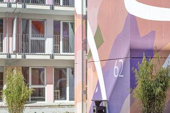 Farbgestaltung am Studierendenwohnheim Riedeselstrasse Darmstadt