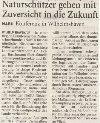 Wilhelmhavener Zeitung v. 21.5.2013