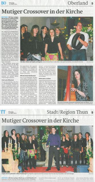 Berner Oberländer / Thuner Tagblatt 15. März 2011