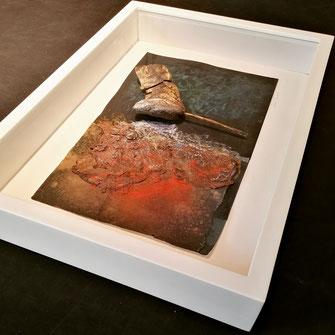 L'utilizzo di un distanziatore e' uno dei fondamenti nella conservazione dell'opera d'arte
