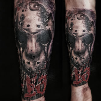 jason vorhees freitag der 13. josh vangore tattoo hamburg altona tätowierungen inked fineart death and decay