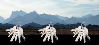 Magnetisches Schlüsselbrett Single Landschaft