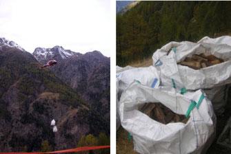 Air Zermatt Brennholz Unterlase
