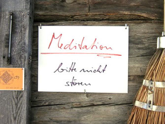 Meditation im Wallis